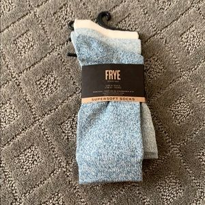 NWT Frye super soft crew socks set of 3